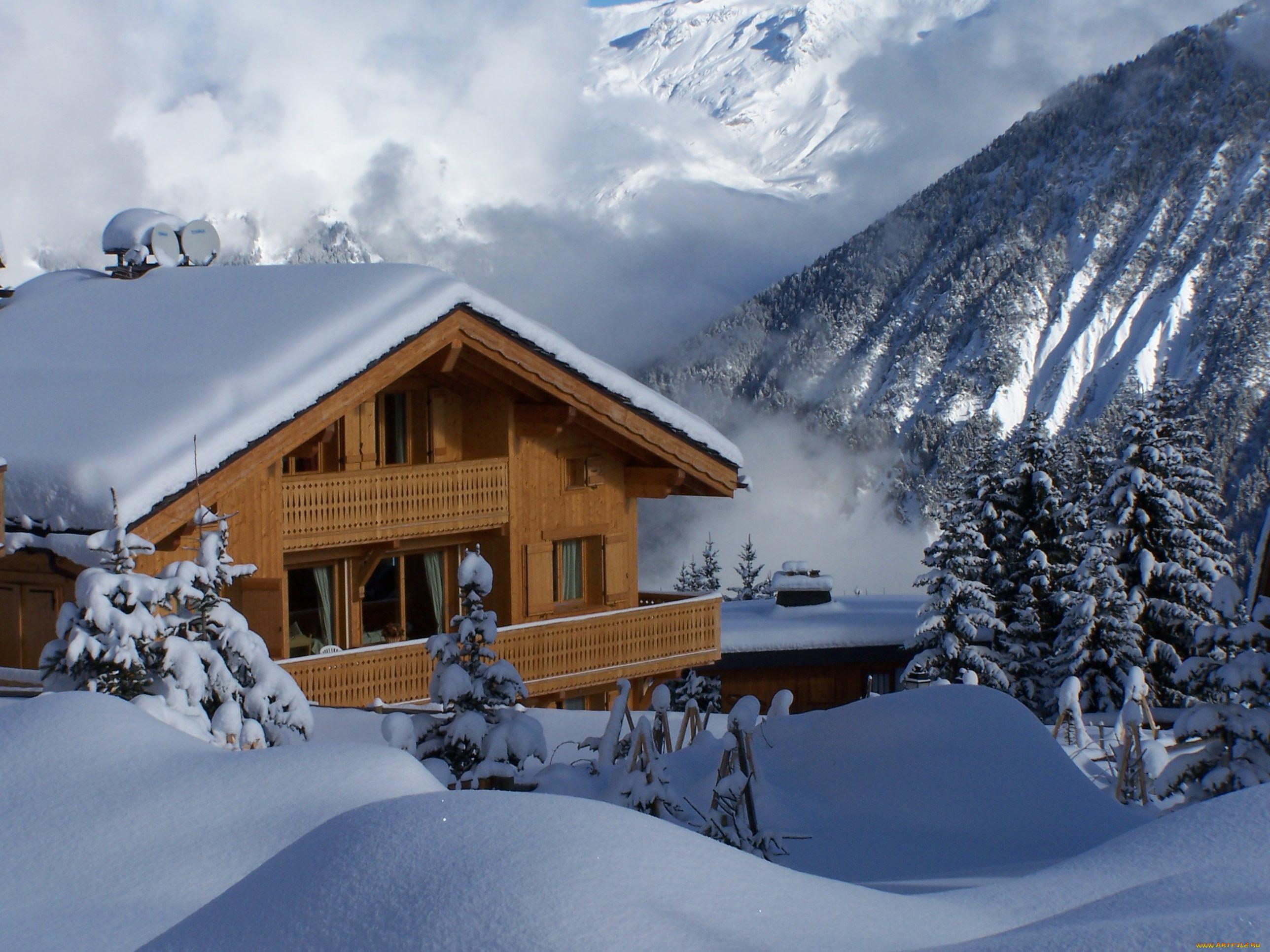 Дом под снегом картинки
